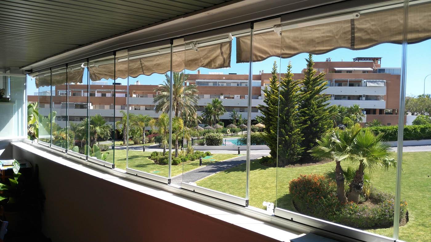 Cortinas de Cristal en Malaga. Terrazas