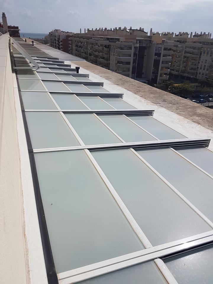 Techos de cristal para terrazas